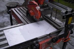 Nassschneider für Terrassenplatten