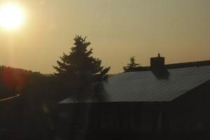 Sonnenkollektoren vom Dachdecker